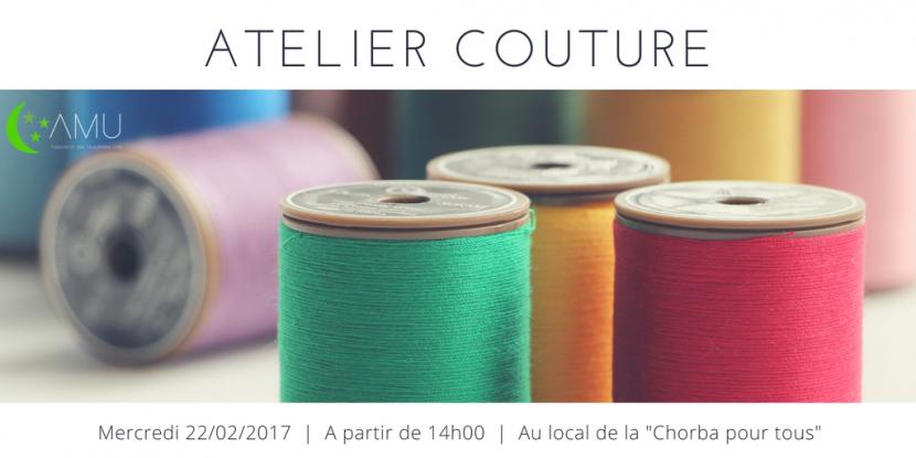 Atelier couture mercredi partir de 14h00 mosqu e de teisseire - Atelier de confection textile ...