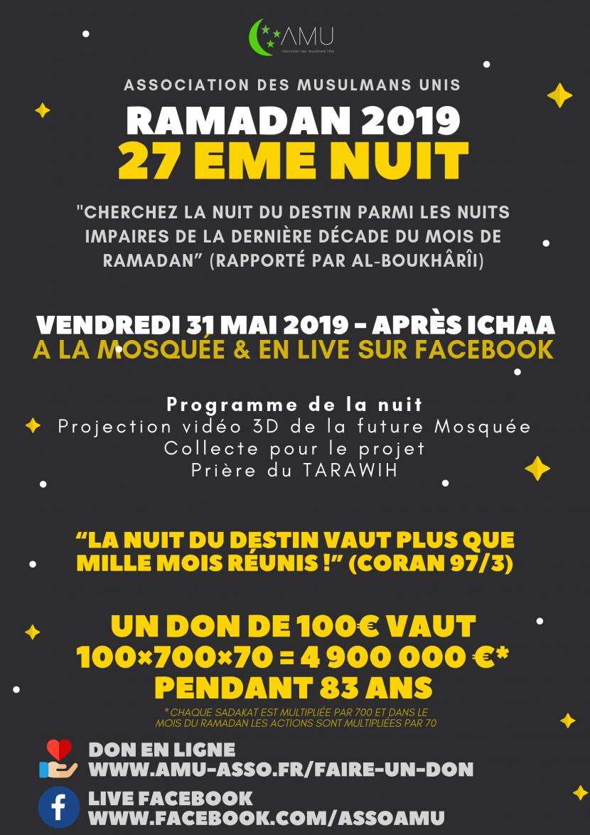 Ramadan 2020 Calendrier Lyon.Mosquee De Teisseire Association Des Musulmans Unis